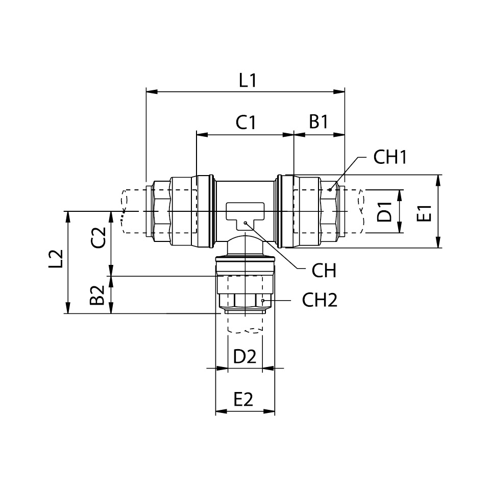 Reducing Tee Connector Infinity Pipe Systems